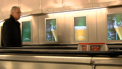 Heineken Digital Escalator Panels
